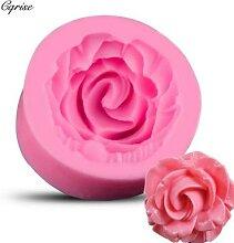 Moules à savon en Silicone en forme de fleur de