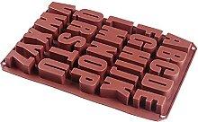 Moules en alphabet anglais silicone, moules de