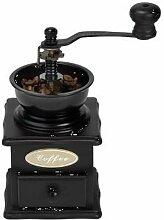 Moulin à café rétro noir naturel 10 x 21 cm