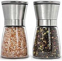 Moulin à poivre et à sel manuel avec mini moulin