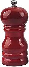 Moulin à poivre manuel en bois durable Rouge
