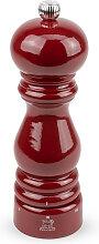 Moulin à poivre manuel en bois laqué rouge