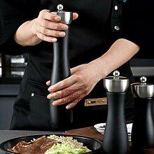 Moulin à poivre manuel en bois noir, à noyau