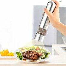 Moulin à sel et à poivre électrique en acier