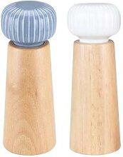 Moulin à sel et à poivre en bois avec Rotor en