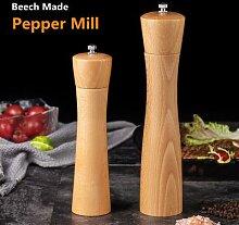 Moulin à sel et à poivre en bois massif, moulin