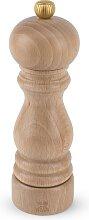 Moulin à sel manuel en bois naturel H18cm