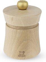 Moulin à sel manuel en bois naturel H8cm