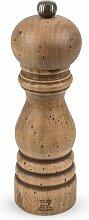 Moulin à sel manuel en hêtre antiquaire H18cm