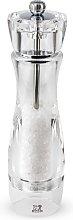 Moulin à sel manuel transparent H23cm