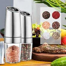 Moulin électrique automatique à poivre et sel, 2
