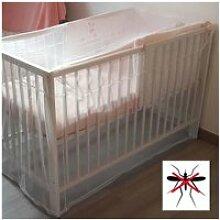 Moustiquaire pour lit bébé - blanc