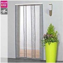 Moustiquaire rideau pour porte l100 x h230 cm gris