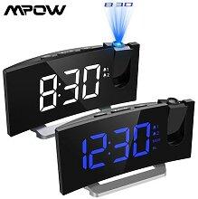 MPOW Projection FM avec 2 alarmes LED, horloge