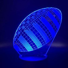 MQJ Football 3D Led Illusion Lampe Night Light