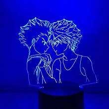 MQJ Lampe D'Illusion 3D Led Night Light Anime