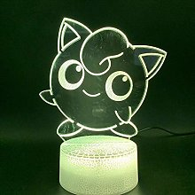 MQJ Lampe D'Illusion 3D Led Night Light Mignon