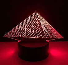 MQJ Pyramid 3D Night Light For Kids Garçons Girls