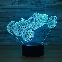 MQJ Super Voiture 3D Night Light For Kids Boys
