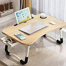 MQJ Table pliante pour ordinateur portable, table