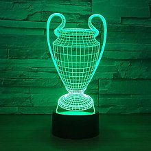 MQJ Trophée de Football 3D Led Illusion Lampe de