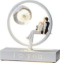 MQQ Lampe De Table, Boule De Verre Couple