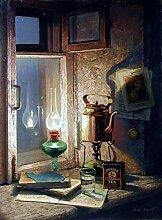 MQWEMJ Peinture par Numero pour Adultes, Lampe et