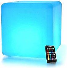 Mr.Go 30cm LED Cube Lumineux avec Télécommande,