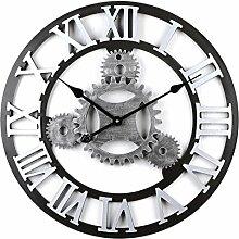 MRKE Horloge Murale Geante, 58CM 4 Gear Horloge