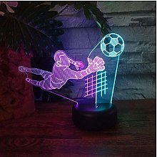 MRQXDP Joueur de football Led 3D veilleuse maison