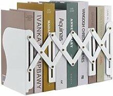 MSDADA Serre-Livres Réglable en Métal,
