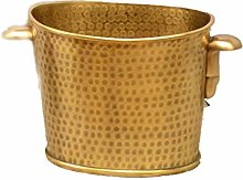 MSLD Vases en Cuivre Créatif en Laiton Baril De