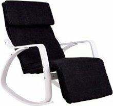 Mstore - fauteuil à bascule réglable avec