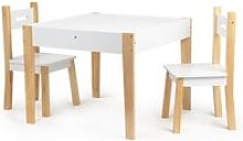 Mstore - table + 2 chaises style scandinave pour