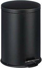 MSV 100268 Poubelle Metal Noire 20 litres, Acier,
