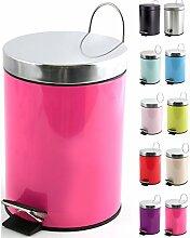 MSV Poubelle à cosmétiques Acier Inoxydable Pink