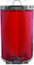 MSV Poubelle à pédale Inox 12L Rouge - Rouge