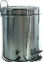 MSV Poubelle à pédale Inox 20L Inox - Acier