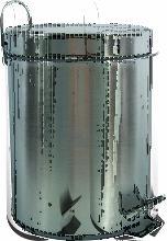 MSV Poubelle à pédale Inox 5L Inox Satiné -