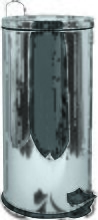MSV Poubelle à pédale Inox Miroir 30L Inox - Inox