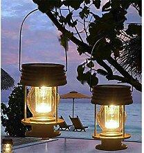 Mtawou Lot de 2 lanternes tempête LED Lampe