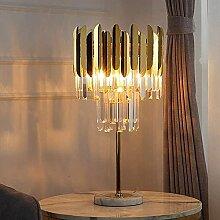 Mu Mianhua Lampe de table à double cristal doré