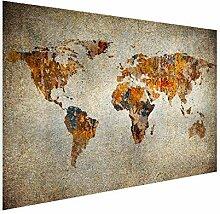 MuchoWow Carte du Monde Artistique Poster Photo