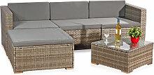 Mucola - Canapé en rotin, sièges gris, mobilier