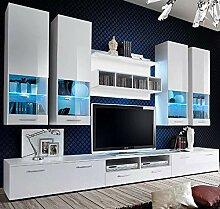 muebles bonitos Meuble Mural TV Arlesa Blanc (3 m)