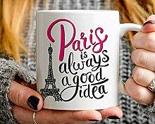 Mug à café de voyage Paris France Cadeau Paris
