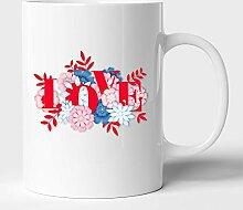 Mug à café en céramique avec texte Love Text