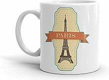 Mug à café et thé Paris France 325 ml