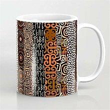 Mug à café géométrique africain en céramique