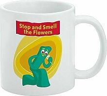 Mug à café humoristique « Stop and Smell The